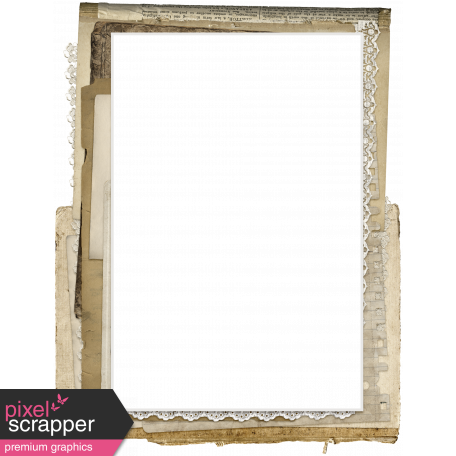 Jane - Frames - Stacked Torn Paper & Lace - Frame 5 graphic by Melo ...