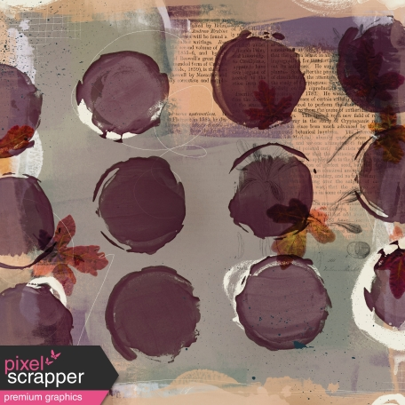 Autumn Day - Painted Papers - Painted Mess 1