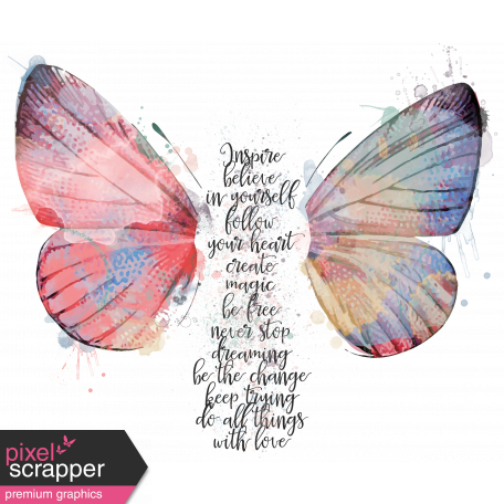 Create Something - Elements - Butterfly Words
