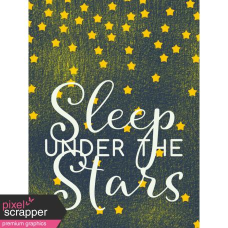 Sweet Dreams - Journal Cards - Sleep Under Stars 3x4