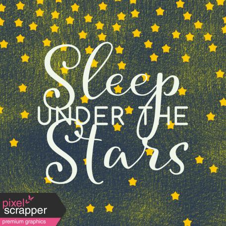 Sweet Dreams - Journal Cards - Sleep Under Stars 4x4