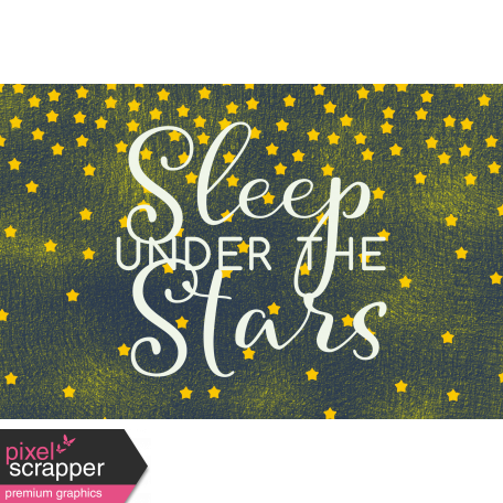 Sweet Dreams - Journal Cards - Sleep Under Stars 6x4