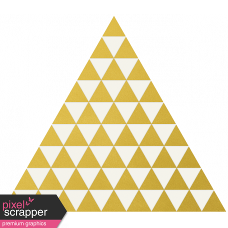 Christmas Day - Elements - Gold Vellum Triangles