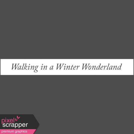 Winter Day Elements - Word Strip Winter Wonderland