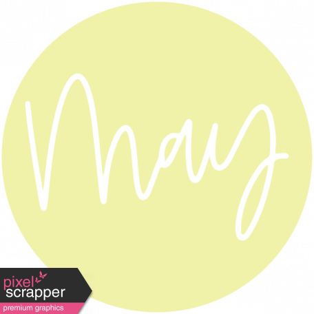 New Day Month Labels - Light Yellow May