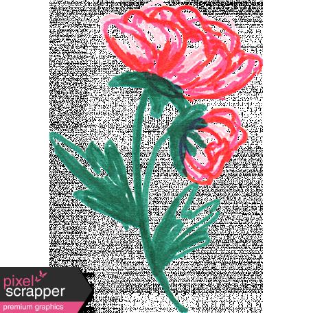 Flower Sketches No 1 Sketch 4 Graphic By Elif Sahin Pixel Scrapper Digital Scrapbooking