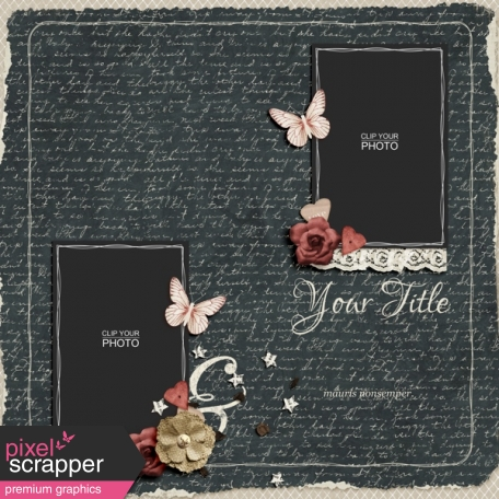 Rustic Charm Album Pages Page 02 Psd Graphic By Elif Sahin