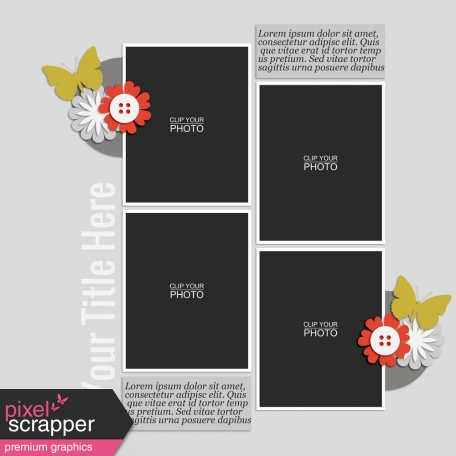 Rustic Charm - Layout Template 09