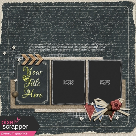 Rustic Charm Album Pages Page 07 Psd Graphic By Elif Sahin