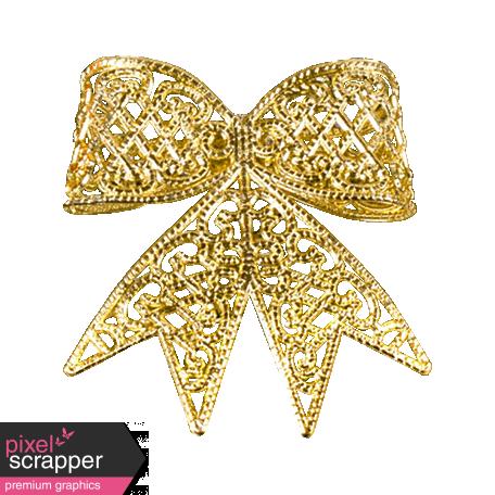 A Little Sparkle {Elements} - Gold Metal Bow