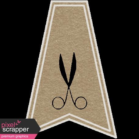 Toolbox Calendar - Scissors Doodle Flag