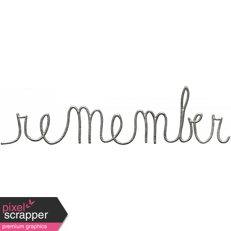 Toolbox Calendar - Metal Word Art - Remember