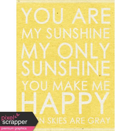 Summer Day   Sunshine Word Art Journal Card
