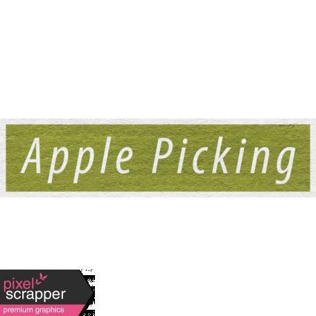 Enchanting Autumn - Apple Picking Word Art