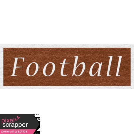 Enchanting Autumn - Football Word Art