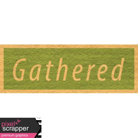Enchanting Autumn - Gathered Word Art