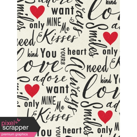 Toolbox Valentine's Kit 1 - 3x4 Love Words Journal Card