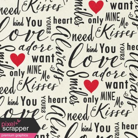 Toolbox Valentine's Kit 1 - 4x4 Love Words Journal Card