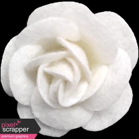 Cozy Day - White Felt Flower
