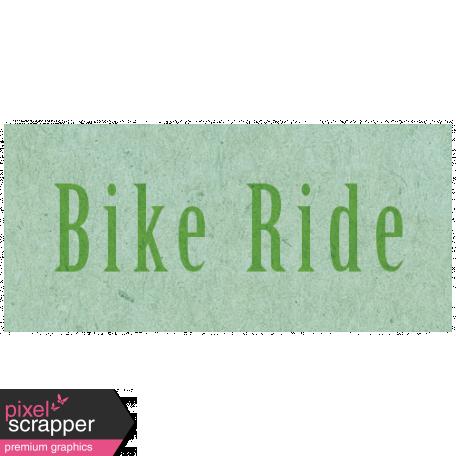 Spring Day - Bike Ride Word Art