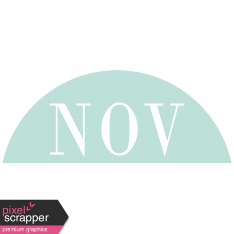 Toolbox Calendar - Date Sticker Kit - Months - Light Teal November