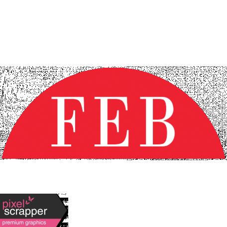 Toolbox Calendar - Date Sticker Kit - Months - Red February