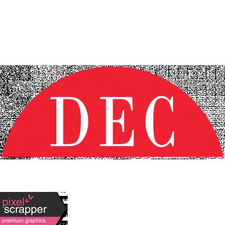 Toolbox Calendar - Date Sticker Kit - Months - Red December