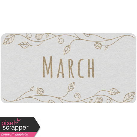 Toolbox Calendar - March Floral Date Tag 02