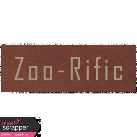 At the Zoo - Zoo-Rific Word Art