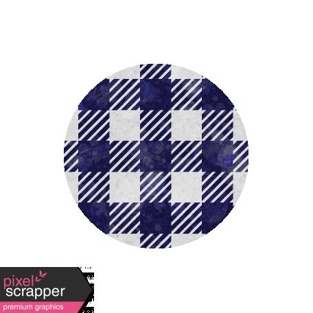 Apple Crisp - Blue Gingham Brad Disk