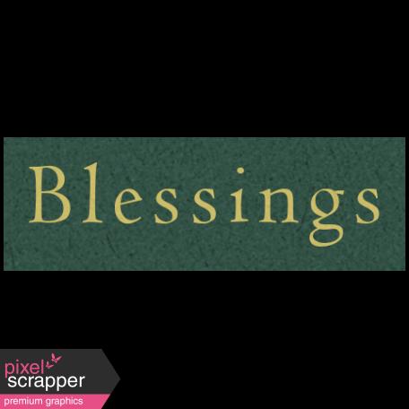Day of Thanks - Blessings Word Art