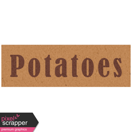 Day of Thanks - Potatoes Word Art