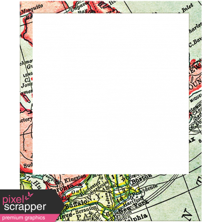 Toolbox Frames - Polaroid Map Frame 20 graphic by Janet Scott ...