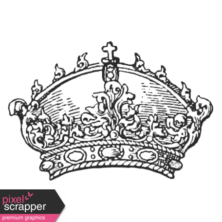 Crown Stamp Template 036 Graphic By Janet Scott