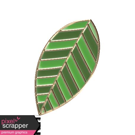 Apple Crisp - Enamel Leaf Charm 06
