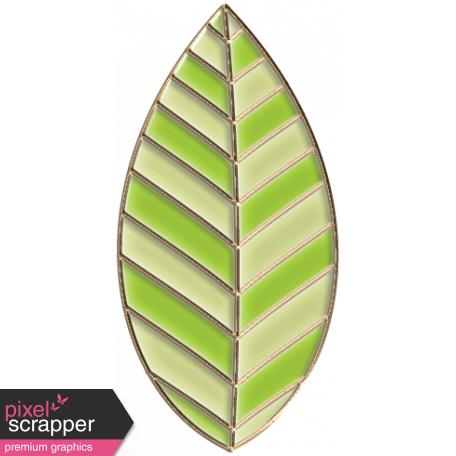 Apple Crisp - Enamel Leaf Charm 07