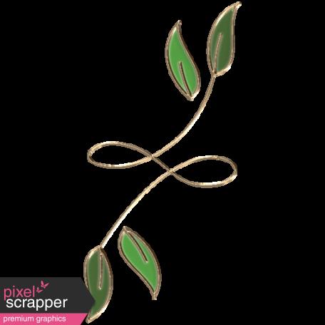 Apple Crisp - Enamel Leaf Charm 08