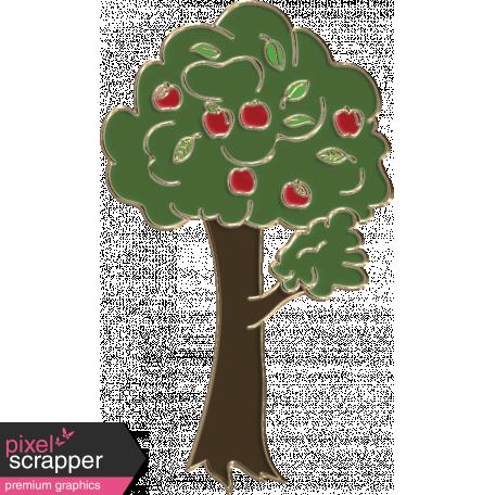 Apple Crisp - Enamel Tree Charm