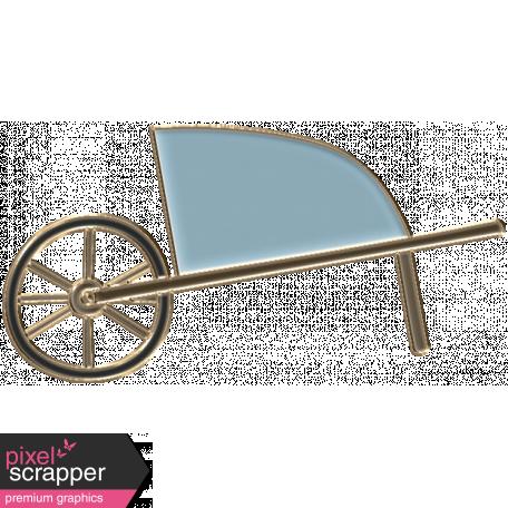 Apple Crisp - Enamel Wheelbarrow Charm