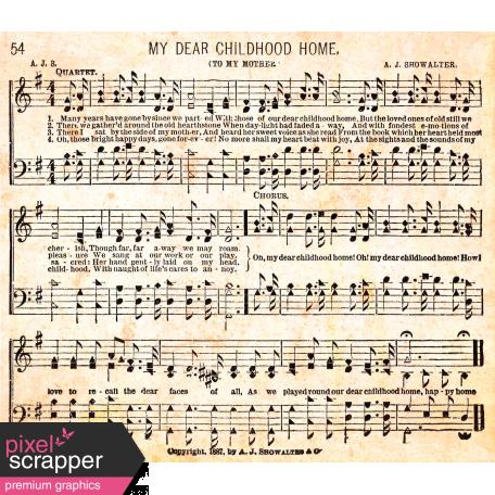 Our House - Mini Kit - Music Paper