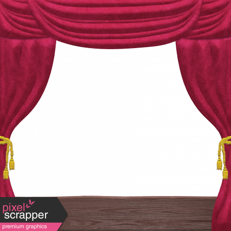 Nutcracker Doodle - Theater Stage Curtain