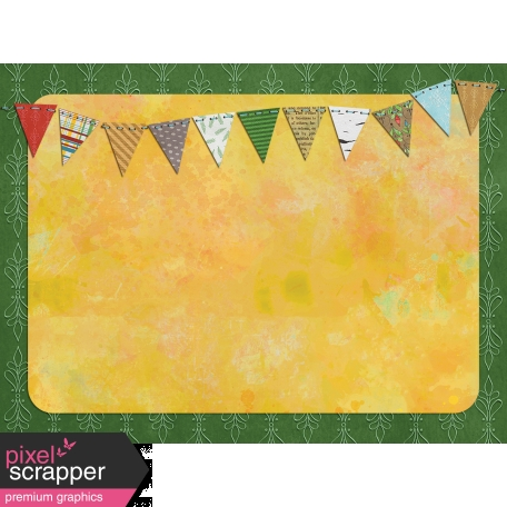 Woodland Winter - Bunting Journal Card