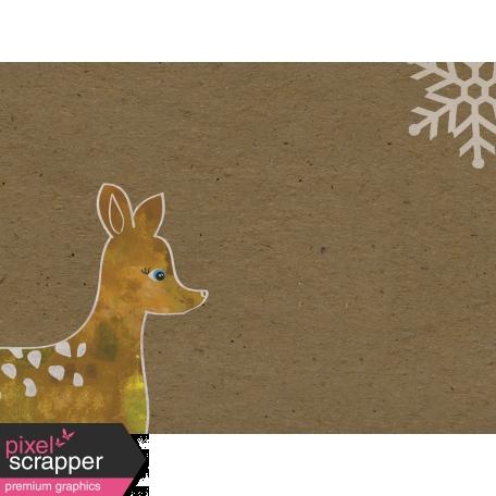 Woodland Winter - Deer Journal Card