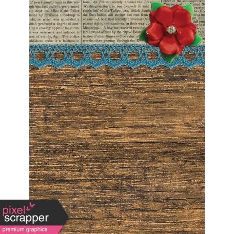 Woodland Winter - Wood Journal Card