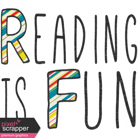 Look, A Book! - Reading Is Fun Word Art