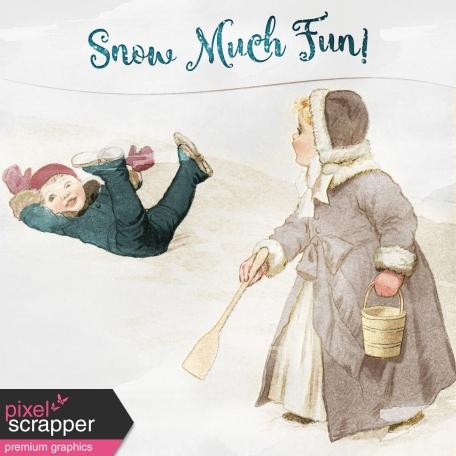 Winter Fun - Snow Baby Snow Much Fun Journal Card 4x4