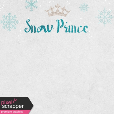 Winter Fun - Snow Baby Snow Prince Journal Card 4x4