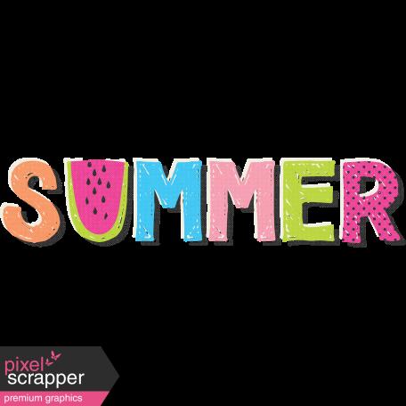 Summer Lovin' July 2017 Blog Train - Summer Word Art