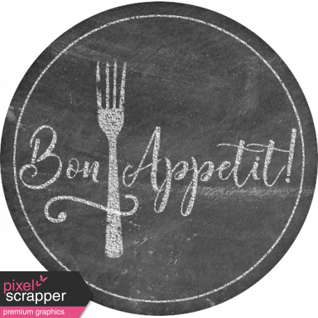 Food Day - Bon Appetit Chalk Label