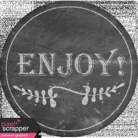 Food Day - Enjoy Chalk Label